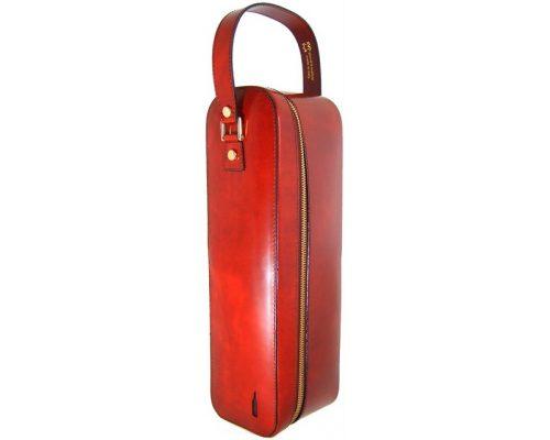 Кожаный чехол для бутылки Pratesi Bacco