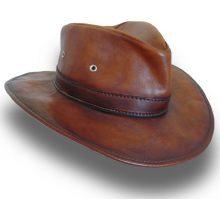 Кожаная шляпа Pratesi Cagliostro