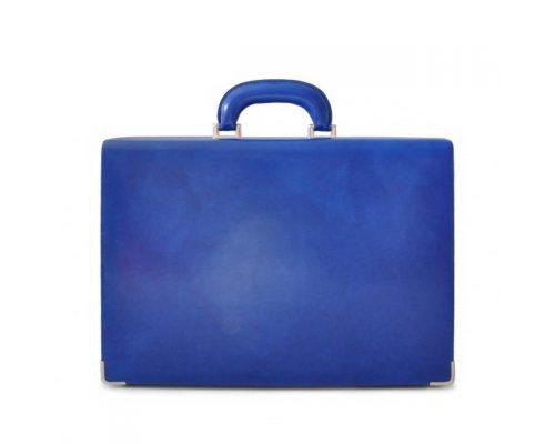 Leather Briefcase Machiavelli Slim