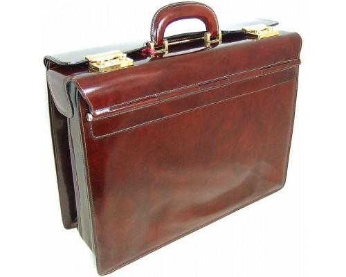 Leather Briefcase Lorenzo il Magnifico Radica