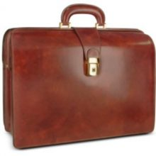 Leather Briefcase Leonardo Radica