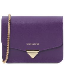 Woman clutch with chain strap Tuscany Leather TL141954