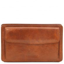 Leather handy wrist bag for man Tuscany Leather TL141445