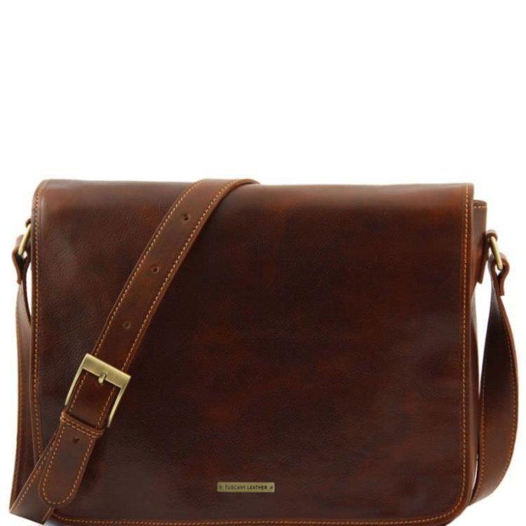 Shoulder Bag Tuscany Leather Tl90475 Messenger Double