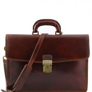 Leather briefcase Tuscany Leather TL10050 Amalfi