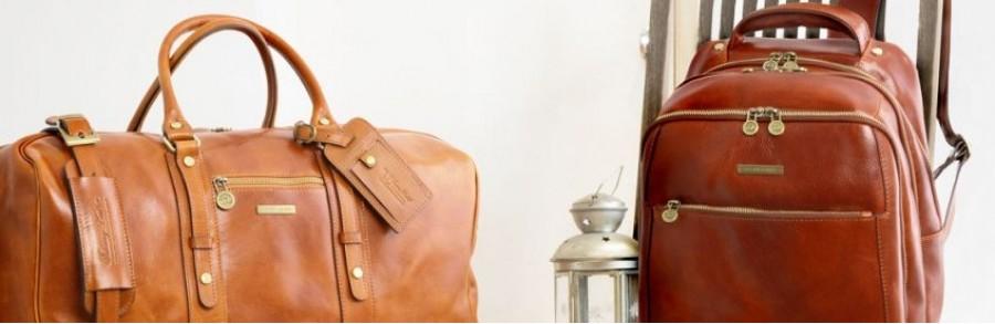 Шкіряна дорожна сумка